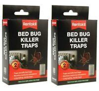 Rentokil Bed Bug Pest Killer 4 Traps Bedroom Insects Bugs Control BB01 Twin Pack