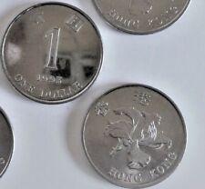 "HONG KONG, 1993, ""NEW ONE DOLLAR"" $1 COINS WITH WRONG MATERIAL UN-CIRCULATED"
