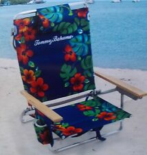 New Tommy Bahama Backpack Beach Chair Classic 5 Position Insulated Cooler Pocket
