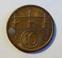 Tschechoslowakei - 10 Heller - 1922 - 1. Republik - st- / unc-
