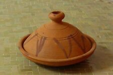 Marokkanische Tajine zum Kochen Salam unglasiert Ø 30 cm f. 3-4 Personen