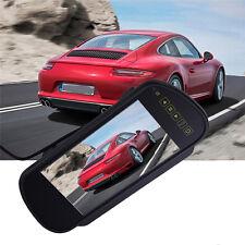 """7"""" TFT LCD Screen Mirror Monitor Backup Camera Car Reverse Parking Rear View Kit"""