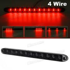 "Truck Trailer Smoke/Red 11 LED Light Bar Stop Tail Brake Lamp Sealed 15"" 4 Wires"