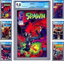 SPAWN #1-2-3-4-5-6 CGC 9.8 *TODD MCFARLANE STORY CVRS & ART* ALL 1ST PRINTS 1992