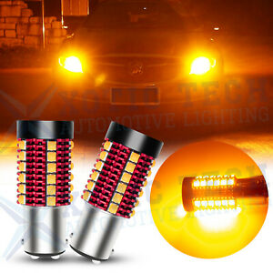 NO Hyper Flash Canbus Amber Yellow 1157 BAY15D 7528 LED Front Turn Signal Light