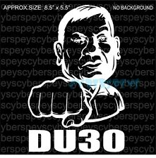 Philippine President DU30 Art Design Vinyl Sticker Decals