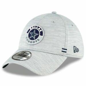 DALLAS COWBOYS NFL OFFICIAL SIDELINE NEW ERA 39THIRTY FLEX GRAY HAT/CAP NWT