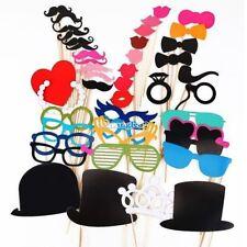 44x Labbra Photo Booth Props Wedding Moustache Festa di Natale maschera SA88