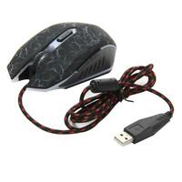 Adjustable 4000DPI Optical Wired Gaming Game Mice Mouse for Laptop PC UK