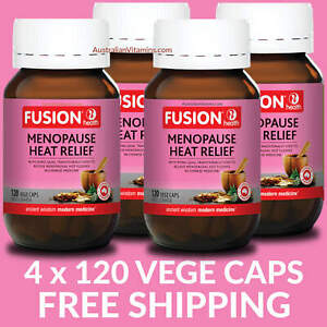 Fusion Menopause Free Heat Relief 120 Capsules - 4 PACK PRICE - $45.95 each
