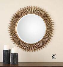 Round Sunburst Vanity Wall Mirror | Contemporary Sun