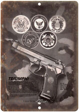"Gunmark Beretta Pistols 10"" x 7"" Reproduction Metal Sign"