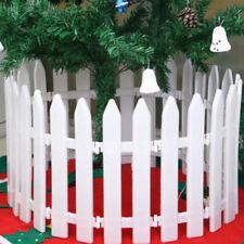 Christmas Tree Fence Decor Miniature Garden Party Xmas Decoration White