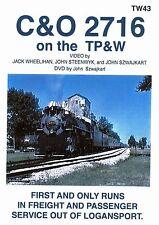 C&O 2716 ON THE TP&W JOHN SZWAJKART DVD-R VIDEO