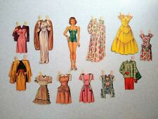 Vintage Judy Garland Paper Doll 1945 Whitman Co. with Outfits, Original, Movies