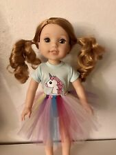 Unicorn Tshirt & Tutu for American Girl Wellie Wishers FREE SHIPPING!