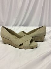 Ellen Tracy Wedge Tan Rope Size 6 Women's Shoes Golden Tan