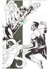 "Original comic art commission: ""GREEN LANTERN & SINESTRO"" by Nestor Celario!"