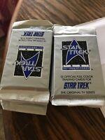 Vintage 1991 Star Trek Original Trading Cards 12 Packs 12 Cards Sealed Unopened.