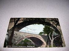 1911 CROTON AQUADUCT DOUBLE ARCH OSSINING NY. ANTIQUE POSTCARD