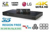 LG UP870 UBK80 refurbished Region Free Blu Ray Player 4k UHD HDR10 3D