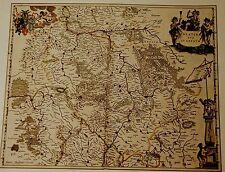 CARTINA STORICA Palatinato, Saarbrücken, medelsheim, Pirmasens, Landau 1658