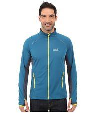 Jack Wolfskin Men's Exhalation Softshell Weather-proof Jacket Blue $150 NEW L