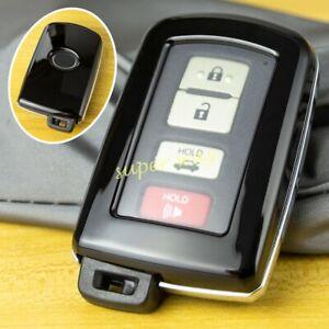 Black Car Hard Shell Key Fob Case Cover For Toyota Highlander Corolla RAV4 Camry