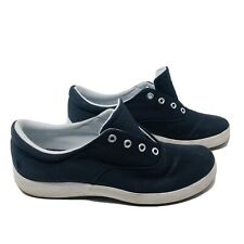 Grasshoppers Women Size 7M Janey Twill Lace Up Sneakers Ortholite Insole Blue S6