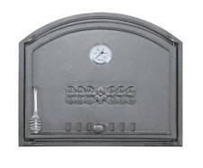 Backofentür Ofentür Pizzaofen Steinofen Gusseisen Thermometer 485x410 (rechts)