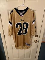 St. Louis LA Rams Marshall Faulk Reebok XL Jersey Gold Nwt