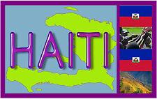 Haïti, carte et drapeau - Souvenir Nouveauté Aimant de réfrigérateur - - Cadeau