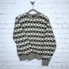 Vintage Wool Cube Sweater Pullover Fleck Geometric by Classic Directions Size XL