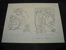 Snugglebumm Coloring Book Original Artwork RARE! Stan Goldberg! ART#0565