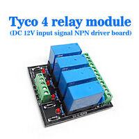 (US) OEG DC 12V  4 Channel Relay Module Four panels Driver Board Module NPN