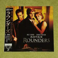 ROUNDERS [Edward Norton] - RARE 1999 JAPAN LASERDISC + OBI (Cat No. PILF-2797)