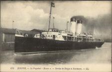 Dieppe France Steamship Paquebot Steamer Ship ROUEN c1915 Postcard #3