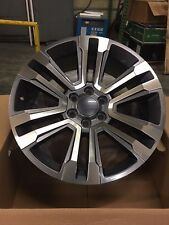 "4- 22"" OE 2017 Yukon Denali Wheels Gun Metal Machined GMC Tahoe Yukon Chevrolet"