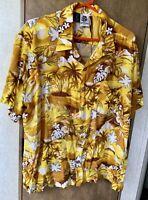 Kennington Hawaiian Button Front Shirt Men's XL Multicolor Rayon Sunset Vintage
