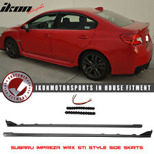 Fits 15-17 Subaru WRX OE STI Style Side Skirts Splitter - ABS