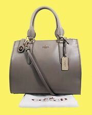 COACH 33545 CROSBY Carryall In Fog Smooth Leather Shoulder Bag $395.00