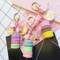 Keychain Women Macaron Cake Biscuits Keychain Charm Tote Car Clothing Pendant Co