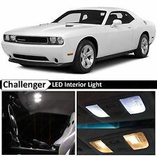 Dodge Challenger White Interior + License Plate LED Lights Package Kit + TOOL