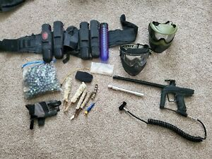 Used paintball gun lot, one of the helmet has integrated Mini Fan X-ray 20-20