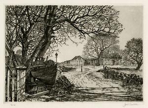 SAMUEL CHAMBERLAIN, 'BARNEGAT COTTAGE, MARBLEHEAD', signed drypoint, 1949