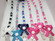 ❤️ PersonaIised Bow Dummy CIip/CIips/Strap ❤️Baby Gift.No Metal Buy 2 get 1 free