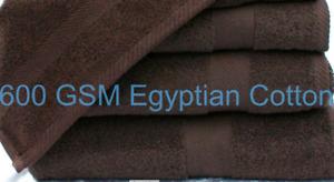 CHOCOLATE BROWN 600GSM 100% SUPERSOFT  EGYPTIAN COTTON  BATH SHEET 100cm x 150cm