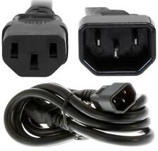 5ft Male~Female PC/PDU Power Extension Cord/Cable/Wire IEC320 C13~C14 14awg 15A