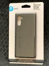 "Onn Samsung Galaxy Note 10  Dual Layer Phone Case 6.3"" - Black - NEW"
