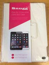 Snugg iPad Air 2 White PU leather Executive Card Slot Case